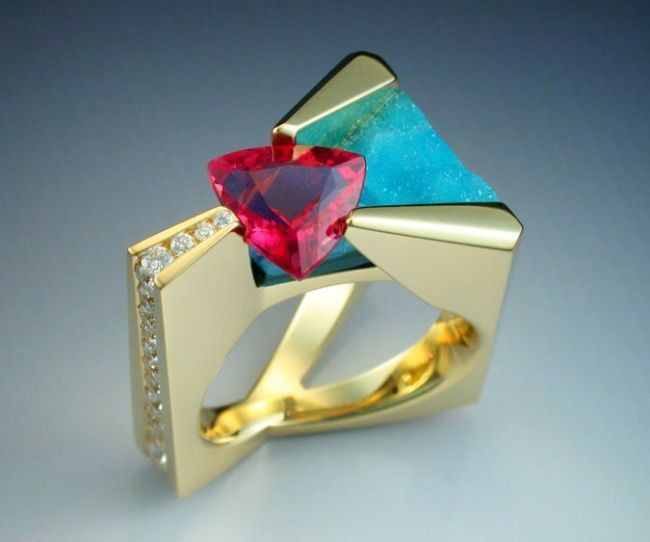 18k-Pink-Tourmaline-diamond-and-chrysocolla-ring